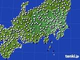 2020年06月13日の関東・甲信地方のアメダス(風向・風速)