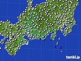 東海地方のアメダス実況(風向・風速)(2020年06月13日)