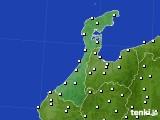 2020年06月13日の石川県のアメダス(風向・風速)