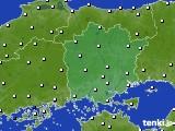 岡山県のアメダス実況(風向・風速)(2020年06月13日)