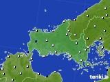 2020年06月13日の山口県のアメダス(風向・風速)