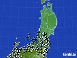 東北地方のアメダス実況(降水量)(2020年06月14日)