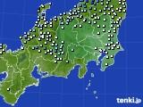 関東・甲信地方のアメダス実況(降水量)(2020年06月14日)