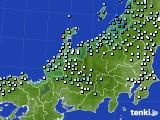 北陸地方のアメダス実況(降水量)(2020年06月14日)