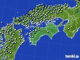 2020年06月14日の四国地方のアメダス(降水量)