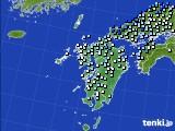 九州地方のアメダス実況(降水量)(2020年06月14日)