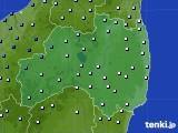 福島県のアメダス実況(降水量)(2020年06月14日)