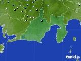 静岡県のアメダス実況(降水量)(2020年06月14日)