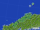 島根県のアメダス実況(降水量)(2020年06月14日)