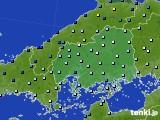 2020年06月14日の広島県のアメダス(降水量)