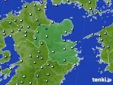 大分県のアメダス実況(降水量)(2020年06月14日)