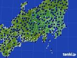 関東・甲信地方のアメダス実況(日照時間)(2020年06月14日)