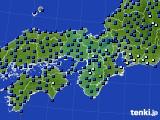 2020年06月14日の近畿地方のアメダス(日照時間)