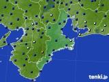 三重県のアメダス実況(日照時間)(2020年06月14日)