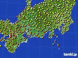 2020年06月14日の東海地方のアメダス(気温)