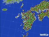 2020年06月14日の九州地方のアメダス(気温)