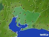 2020年06月14日の愛知県のアメダス(気温)