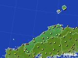 2020年06月14日の島根県のアメダス(気温)