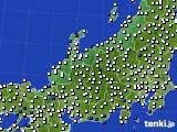 北陸地方のアメダス実況(風向・風速)(2020年06月14日)