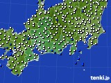 2020年06月14日の東海地方のアメダス(風向・風速)