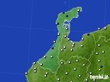 2020年06月14日の石川県のアメダス(風向・風速)