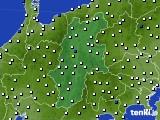 2020年06月14日の長野県のアメダス(風向・風速)