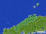 2020年06月14日の島根県のアメダス(風向・風速)