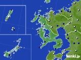 2020年06月14日の長崎県のアメダス(風向・風速)