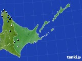 道東のアメダス実況(降水量)(2020年06月15日)