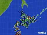 2020年06月15日の北海道地方のアメダス(日照時間)