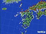 九州地方のアメダス実況(日照時間)(2020年06月15日)