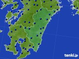 宮崎県のアメダス実況(日照時間)(2020年06月15日)