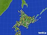 2020年06月15日の北海道地方のアメダス(気温)