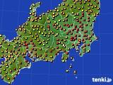 2020年06月15日の関東・甲信地方のアメダス(気温)