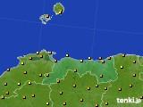 2020年06月15日の鳥取県のアメダス(気温)