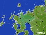 佐賀県のアメダス実況(気温)(2020年06月15日)