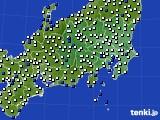 2020年06月15日の関東・甲信地方のアメダス(風向・風速)