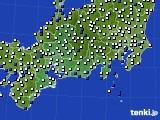 2020年06月15日の東海地方のアメダス(風向・風速)