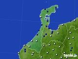 2020年06月15日の石川県のアメダス(風向・風速)