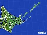 道東のアメダス実況(風向・風速)(2020年06月15日)