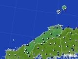 2020年06月15日の島根県のアメダス(風向・風速)