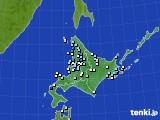 北海道地方のアメダス実況(降水量)(2020年06月16日)