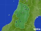2020年06月16日の山形県のアメダス(降水量)
