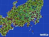 関東・甲信地方のアメダス実況(日照時間)(2020年06月16日)