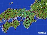 近畿地方のアメダス実況(日照時間)(2020年06月16日)