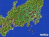 2020年06月16日の関東・甲信地方のアメダス(気温)