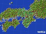 2020年06月16日の近畿地方のアメダス(気温)