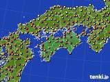 2020年06月16日の四国地方のアメダス(気温)