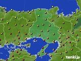 2020年06月16日の兵庫県のアメダス(気温)