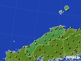 2020年06月16日の島根県のアメダス(気温)